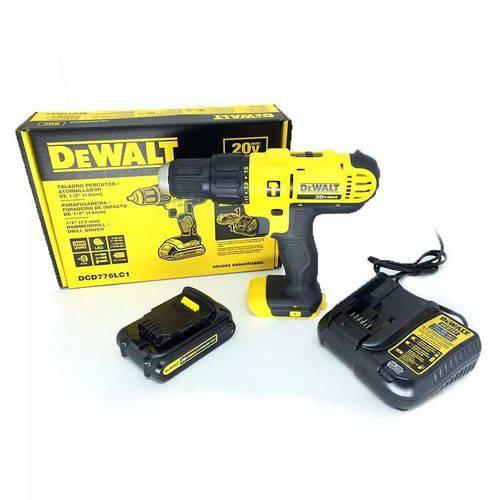 Parafusadeira Furadeira 20v Bateria Biv Dewalt - Dcd776lc1