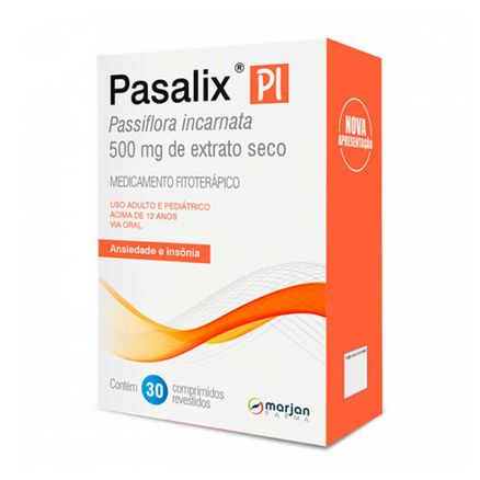 Pasalix Pi 500mg 30 Comprimidos Revestidos