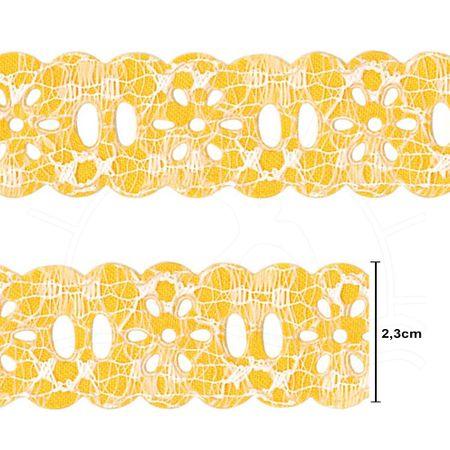 Passa Fita Marilda Coleção Requinte Mod. 1202 Margarida - 10 Metros 101.16 Amarelo