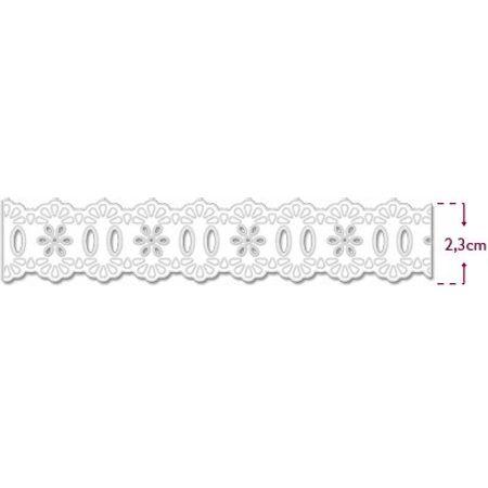 Passa Fita Marilda Mod. 34 Crochê - Branco