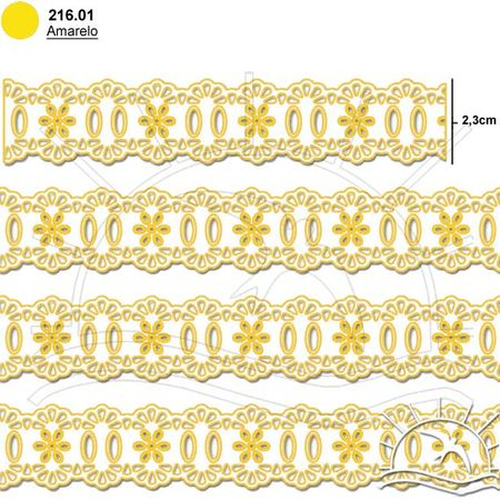 Passa Fita Marilda Mod. 34 Crochê - Cores 01 - Amarelo