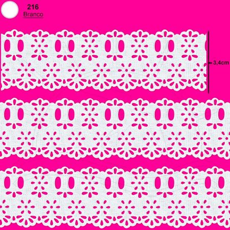 Passa Fita Marilda Mod. 700 Lasynha Crochê C/ 10m - Branco