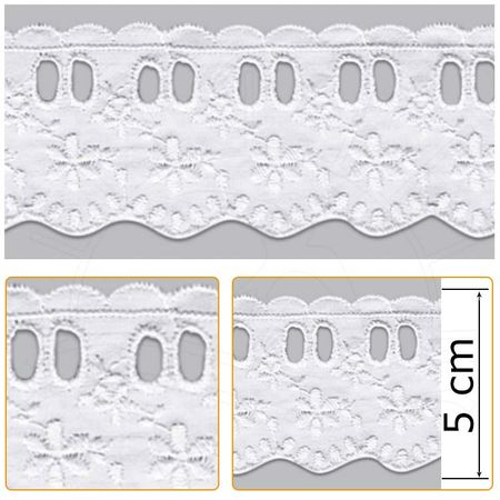 Passa Fita PP021 001 Branco - 5,0 Cm