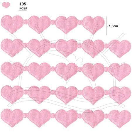 Passamanaria Marilda Mod. 409 C/ 5m - Coração 105 - Rosa