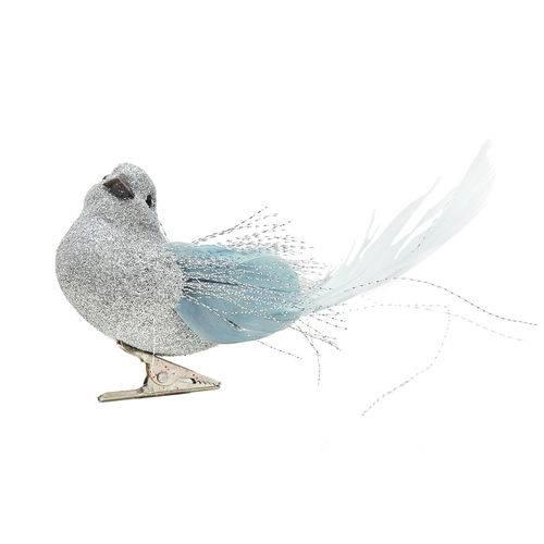 Pássaro com Glitter Prata - Cromus: 1551549