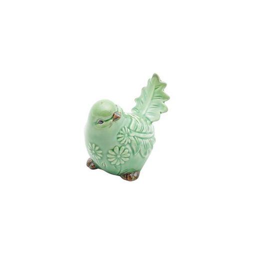 Pássaro Decorativo de Cerâmica Verde Amazon 4177 Lyor