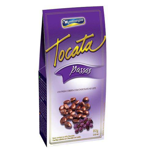 Passas Cobertas com Chocolate Tocata 80g - Montevérgine