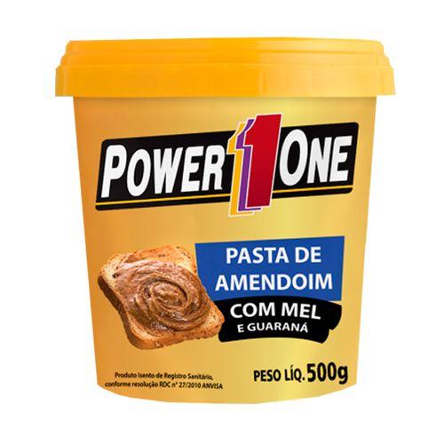 Pasta Amendoim com Mel e Guaraná - Power One - 500g