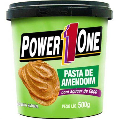 Pasta de Amendoim 500g Açúcar de Coco - Power 1 One