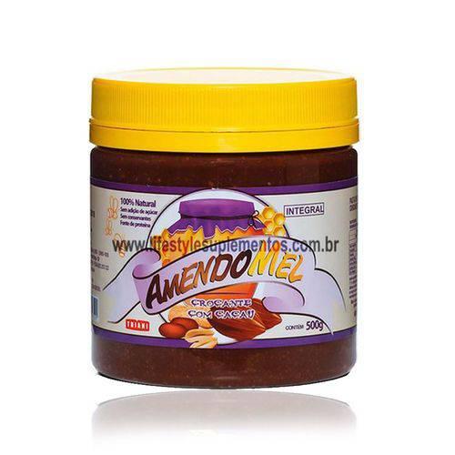 Pasta de Amendoim Amendomel 500g - Crocante com Cacau