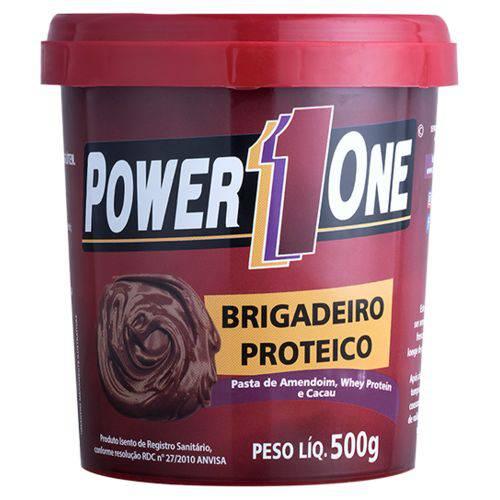 Pasta de Amendoim Brigadeiro 500g Power One.