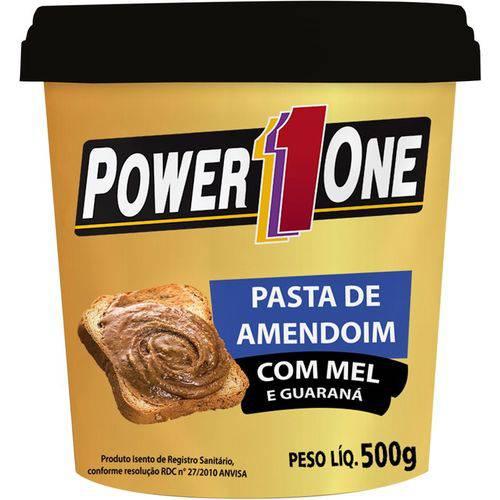 Pasta de Amendoim C/Mel e Guaraná (Pt) 500g - Power One