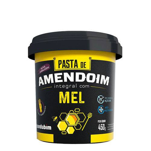 Pasta de Amendoim com Mel Orgânico - Mandubim 450gr