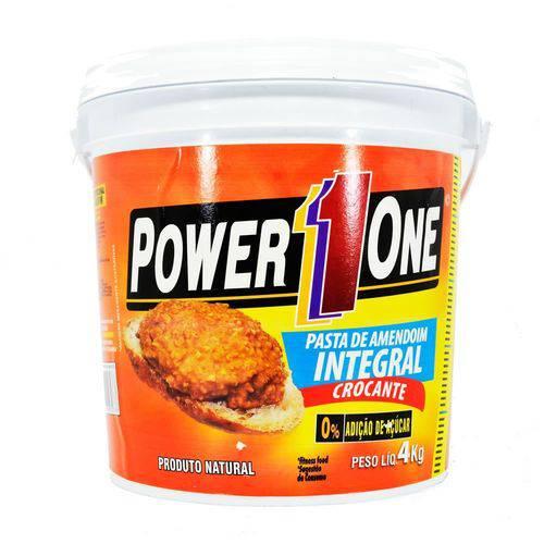 Pasta de Amendoim Crocante Power One 4kg