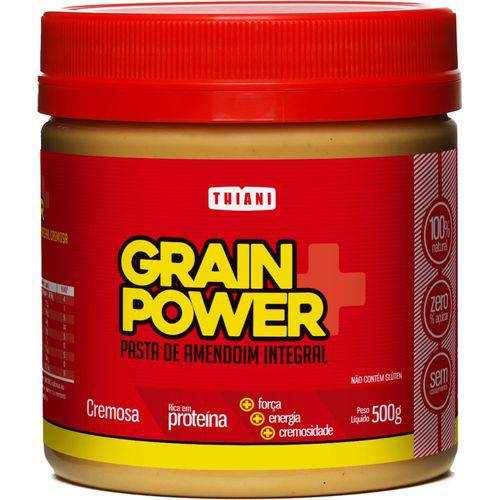 Pasta de Amendoim Grain Power Cremosa (500g) - Thiani