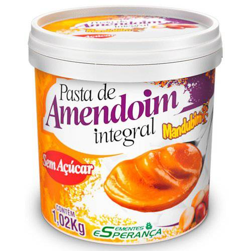 Pasta de Amendoim Integral (1kg) - Mandubim