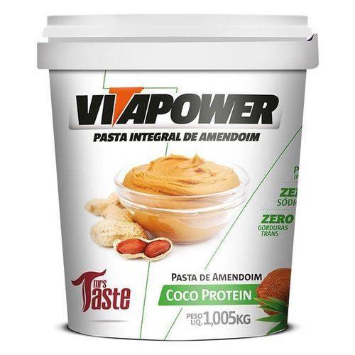 Pasta de Amendoim Integral Coco - 1,005kg - Vita Power