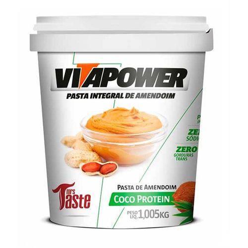 Pasta de Amendoim Integral Coco Protein (1,005g) - Vitapower
