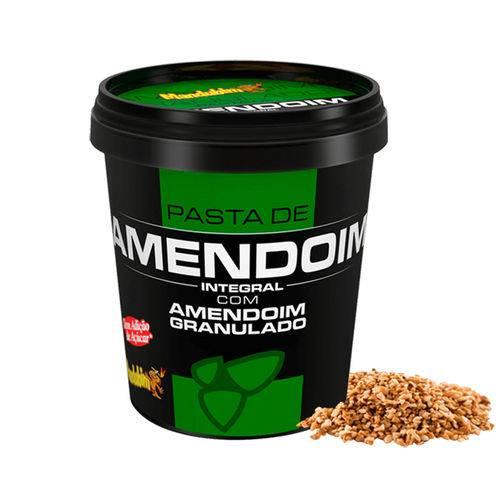 Pasta de Amendoim Integral com Amendoim Granulado 1002g - Mandubim