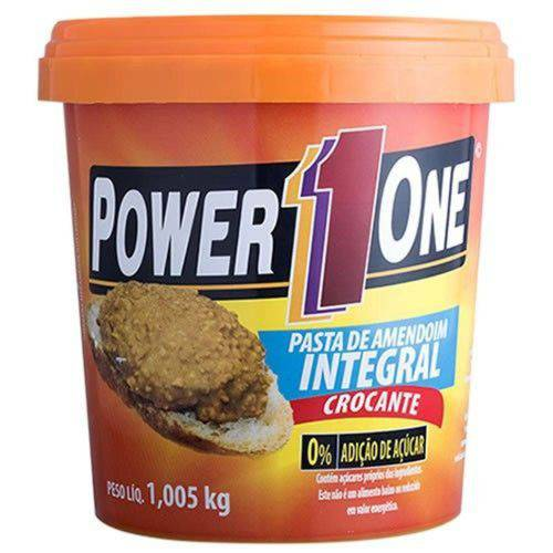 Pasta de Amendoim Integral Crocante - 1,005kg - Power 1 One