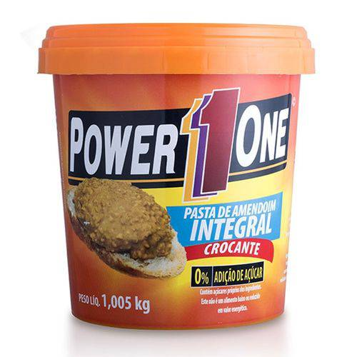 Pasta de Amendoim Integral Crocante 1005g - Power 1 One