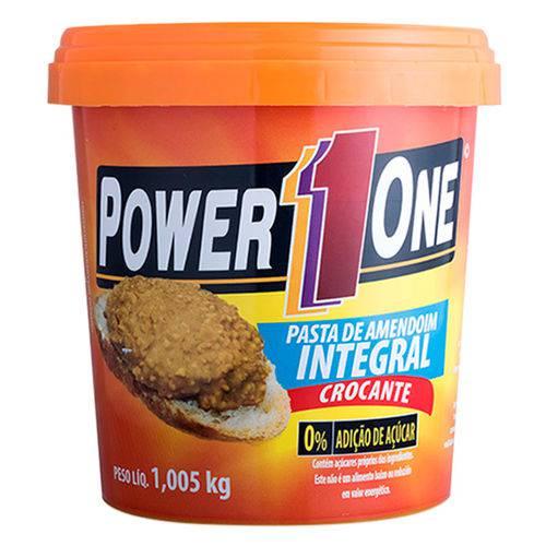 Pasta de Amendoim Integral Crocante (1kg) - Power One