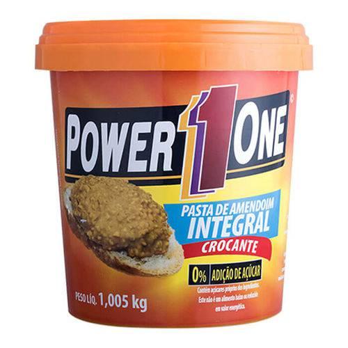 Pasta de Amendoim Integral Crocante - Power1one - 1kg