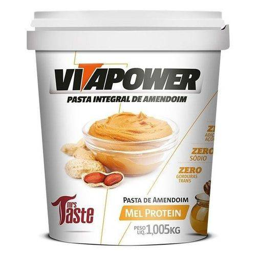 Pasta de Amendoim Mel Protein (1,005kg) - Mrs Taste