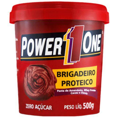 Pasta de Amendoin Brigadeiro Proteico 500gr - Power1one