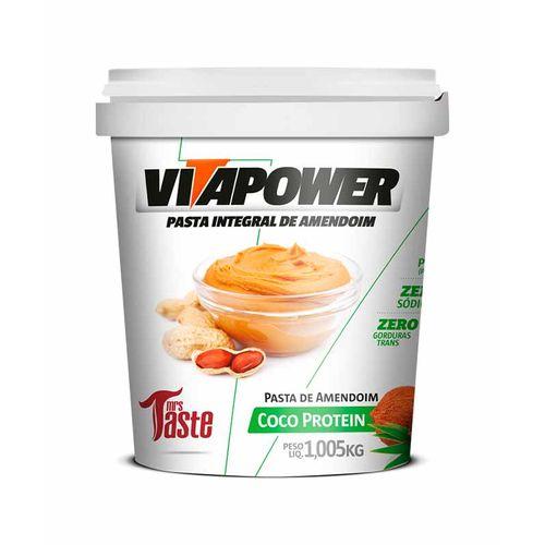 Pasta Integral Amendoim Coco Protein - Mrs Taste - 1Kg