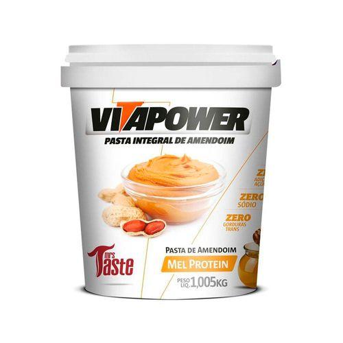 Pasta Integral Amendoim Mel Protein - Mrs Taste - 1Kg