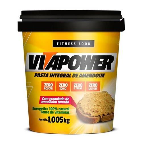 Pasta Integral de Amendoim - Vita Power - C/ Granulado de Amendoim Torrado - 1kg