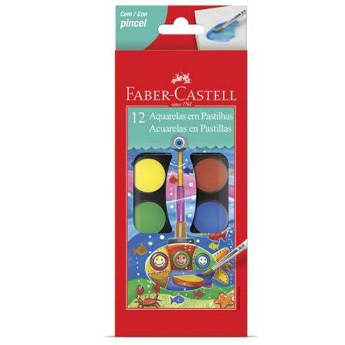 Pastilha Aquarela Faber-castell 12 Cores - 19.0012