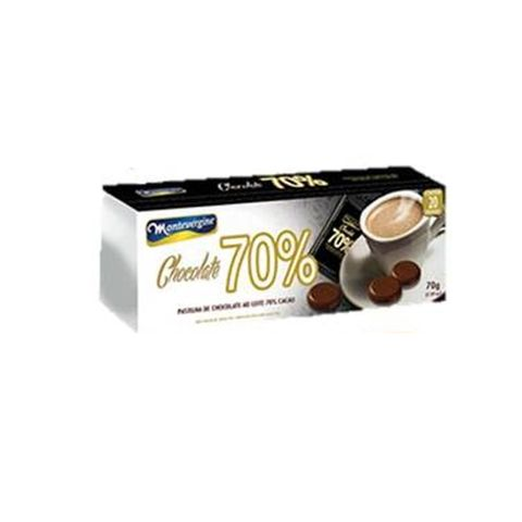 Pastilha de Chocolate Amargo 70% 70g - Montevérgine