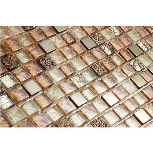 Pastilha de Vidro com Pedras Naturais e Metais 30x30 Tscr273 Tropical Stones