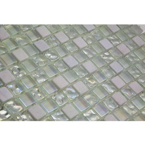 Pastilha de Vidro com Pedras Naturais e Metais 30x30 Tscr272 Tropical Stones