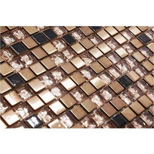 Pastilha de Vidro com Pedras Naturais e Metais 30x30 Tscr270 Tropical Stones
