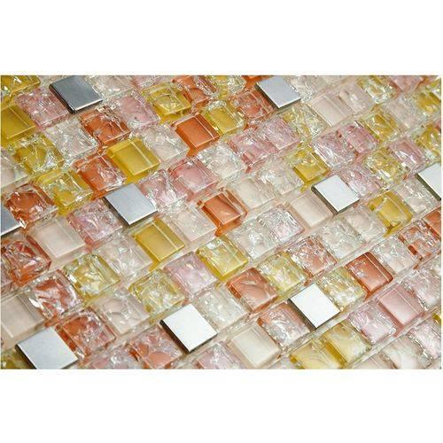 Pastilha de Vidro com Pedras Naturais e Metais 30x30 Tscr285 Tropical Stones
