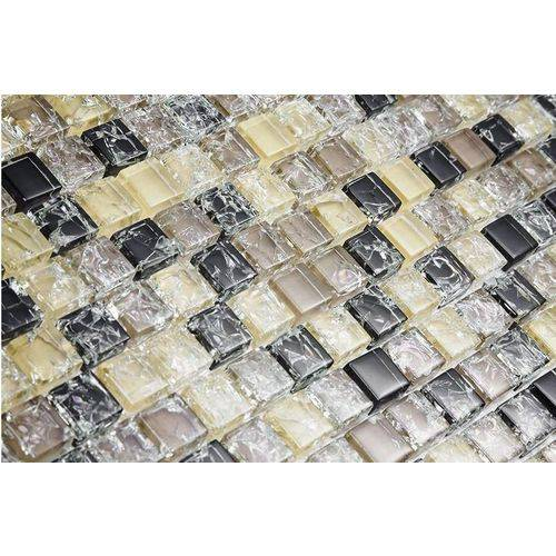 Pastilha de Vidro com Pedras Naturais e Metais 30x30 Tscr293 Tropical Stones