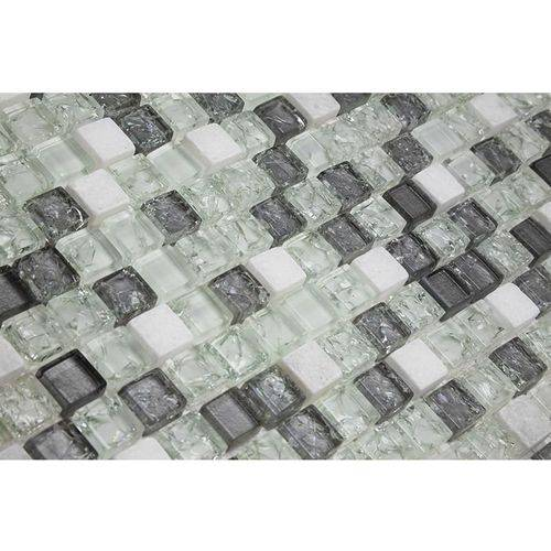 Pastilha de Vidro com Pedras Naturais e Metais 30x30 Tscr291 Tropical Stones