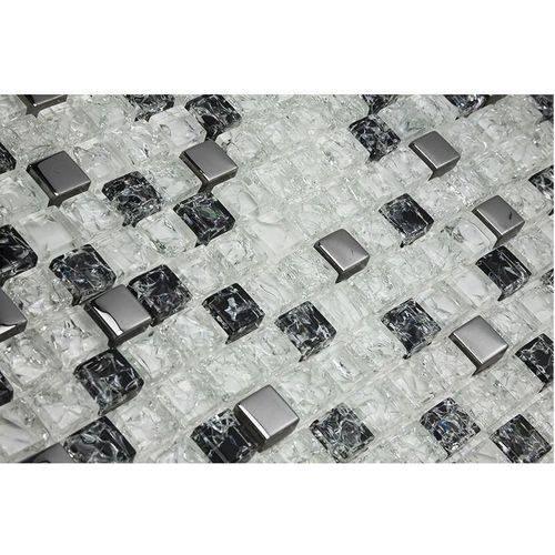 Pastilha de Vidro com Pedras Naturais e Metais 30x30 Tscr294 Tropical Stones
