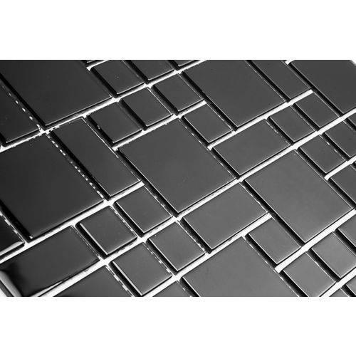 Pastilha de Vidro Modulare MTS201 Preto 30 X 30