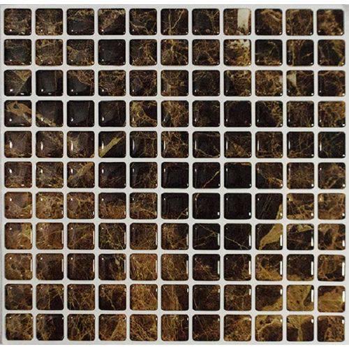Pastilhas Adesivas Banheiro Cozinha Pedra Marrom 30x30