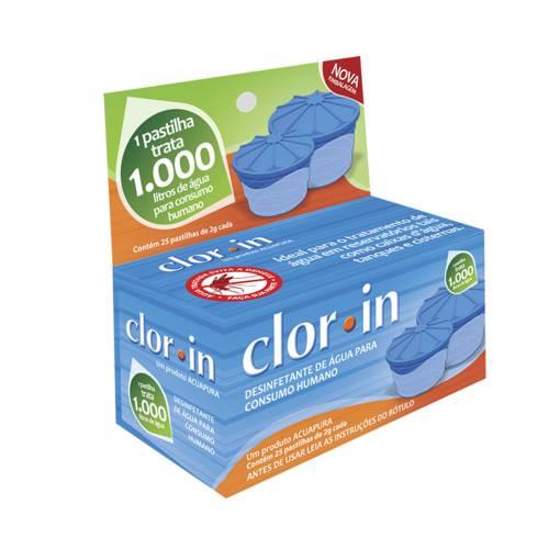 Pastilhas para Tratamento Dágua Clorin 1000 Cx com 25 Unidades - Nautika