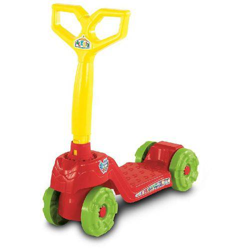 Patinete Infantil 4 Rodas Mini Scooty Vermelho - Calesita