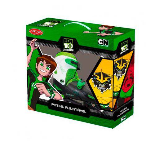 Patins Ajustavel Ben 10 8975 - Astro Toys