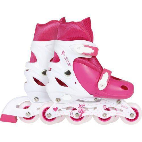 Patins Roller Infantil Rosa - M (35-38) - Mor Row