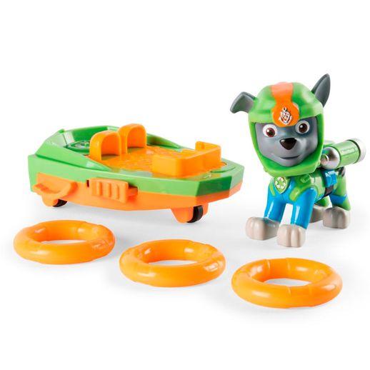 Patrulha Canina Figura de Luxo com Prancha de Lançamento Rocky - Sunny