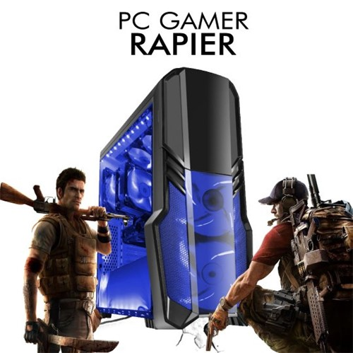 PC Gamer InfoParts Rapier Core I3-8100 Rx 570, 4GB 1TB 8GB