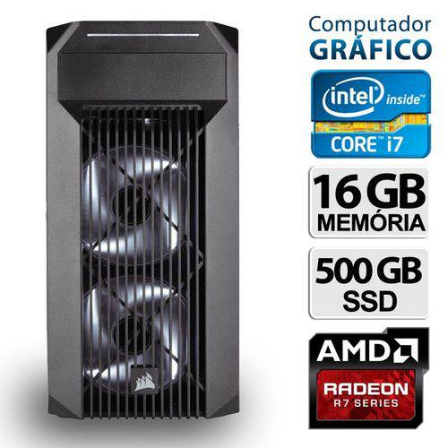 Pc Gráfico Intel Core I7 16gb R7 360 Ssd 500 Win 10